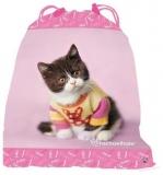 Taška na tělocvik a přezůvky kotě růžový