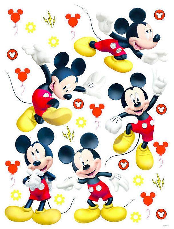 Maxi nálepka na zeď Mickey