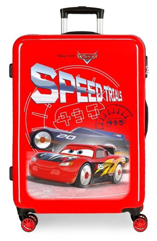 Cestovní kufr ABS Cars Speed Trails 68 cm
