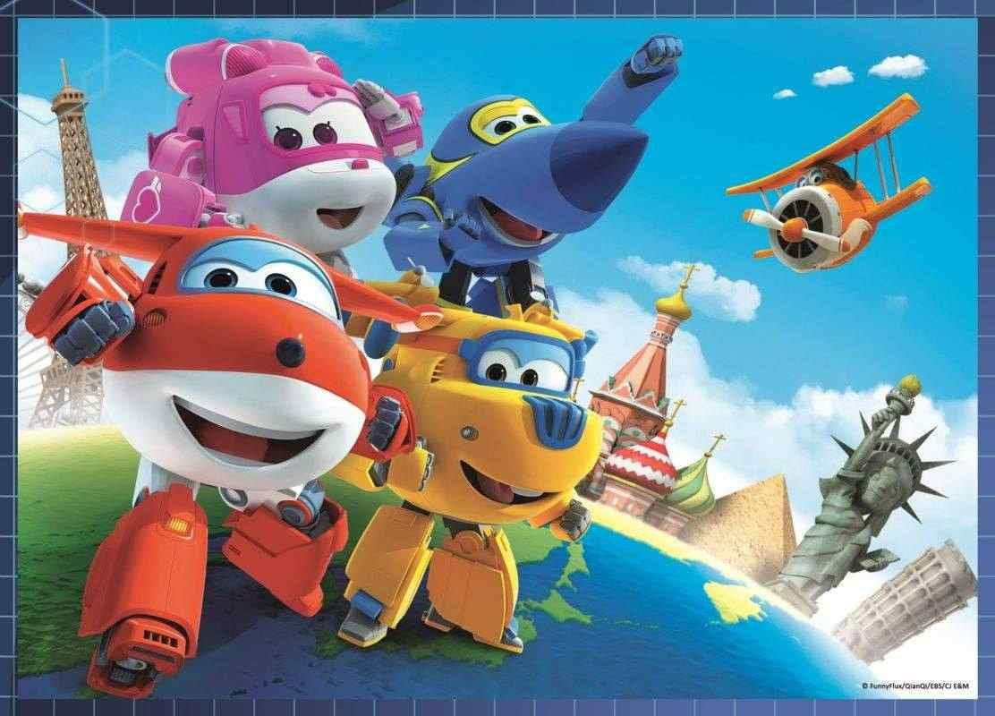 Puzzle Super Wings 4 v 1