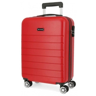 Cestovní kufr ABS Roll Road Magazine Red 55 cm